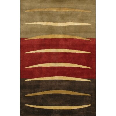 Caines Red/Grey Area Rug Rug Size: Rectangle 5 x 76