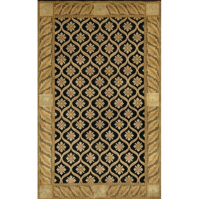 Aadi Black/Gold Area Rug Rug Size: 2 x 3