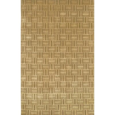 Caines Wool Tan/White Area Rug Rug Size: Rectangle 5 x 76