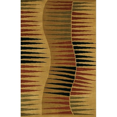 Aadi Tan/Black Area Rug Rug Size: 2 x 3