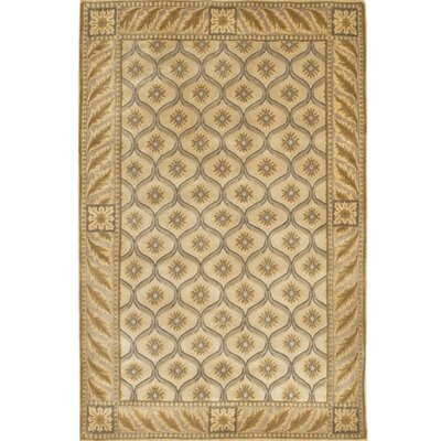 Caines Tan/White Area Rug Rug Size: Rectangle 79 x 106