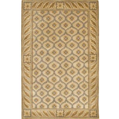 Aadi Tan/White Area Rug Rug Size: 79 x 106