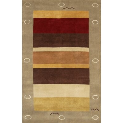 Aadi Brown/Red Area Rug Rug Size: 2 x 3