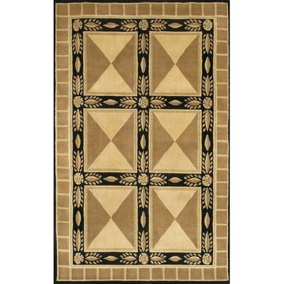 Caines Tan/Black Area Rug Rug Size: Round 79
