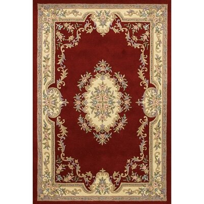 Abusson Red Area Rug Rug Size: 2 x 3