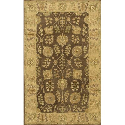 Adonia Brown/Tan Area Rug Rug Size: 79 x 106