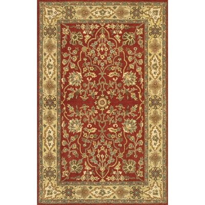 Adonia Red Area Rug Rug Size: 79 x 106