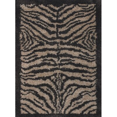 Vanetta Wool Black / Gray Area Rug Rug Size: Rectangle 79 x 106