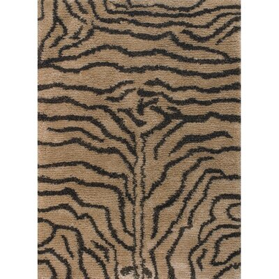 Vanetta Hand Woven Brown / Tan Area Rug Rug Size: Rectangle 79 x 106