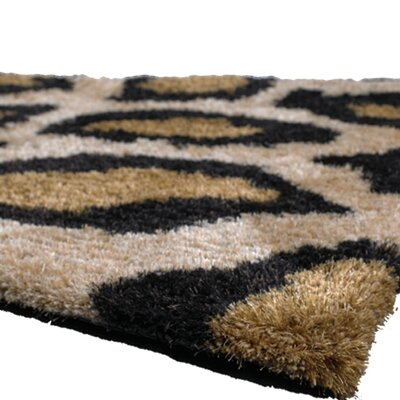 Vanetta Black/Tan Area Rug Rug Size: Rectangle 5 x 76