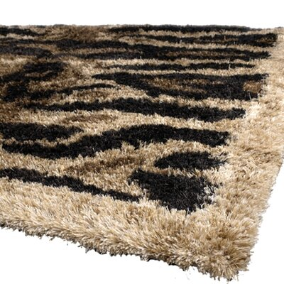 Amazon Brown / Tan Area Rug Rug Size: 79 x 106