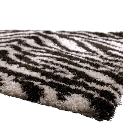 Amazon Black / Gray Area Rug Rug Size: 79 x 106
