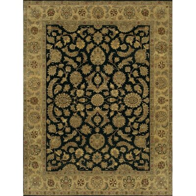 Angora Black/Brown Area Rug Rug Size: 2 x 3