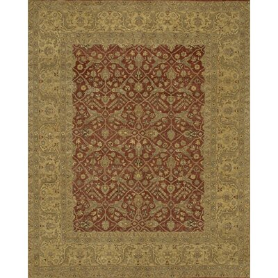 Angora Brown/Red Area Rug Rug Size: 6 x 9