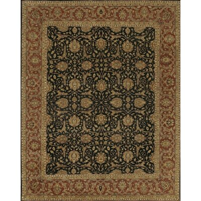 Angora Black/Red Area Rug Rug Size: 2 x 3