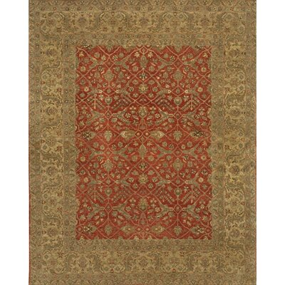 Angora Red/Tan Area Rug Rug Size: 2 x 3