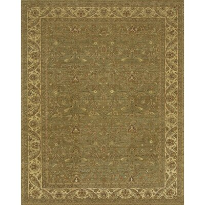 Angora Green/Brown Area Rug Rug Size: 8 x 10