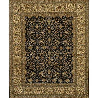 Freeland Black/Tan Area Rug Rug Size: 9 x 12