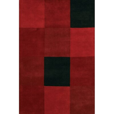 Laurent Red/Black Area Rug Rug Size: Rectangle 79 x 106