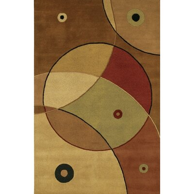 Benna Green/Tan Area Rug Rug Size: Rectangle 5 x 76