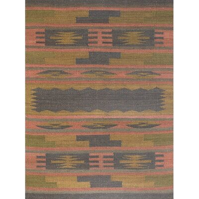 Goodrum Hand Woven Brown/Gray/Pink Area Rug Rug Size: Rectangle 2 x 3