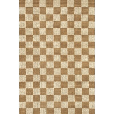 Lee-Abele Brown/Tan Plaid Area Rug Rug Size: Rectangle 79 x 106
