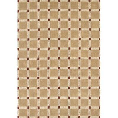 Art Brown/Red Area Rug Rug Size: 36 x 56