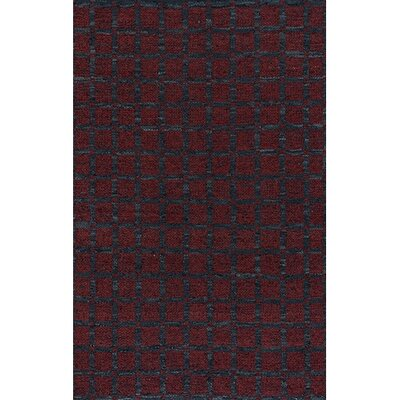 Art Red/Black Area Rug Rug Size: 36 x 56