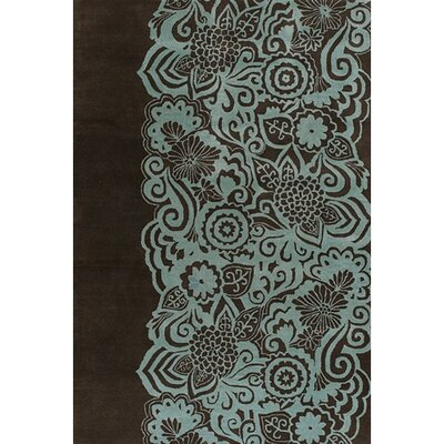 Steib Wool Blue/Black Area Rug Rug Size: Rectangle 5 x 76
