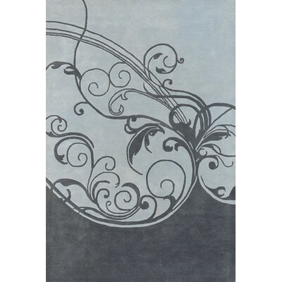 Aschera Black/Blue Area Rug Rug Size: 2 x 3