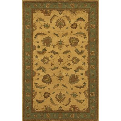 Calderwood Green/Tan Area Rug Rug Size: Round 79