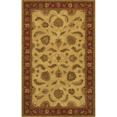 Calderwood Gold/Red Area Rug Rug Size: Round 79