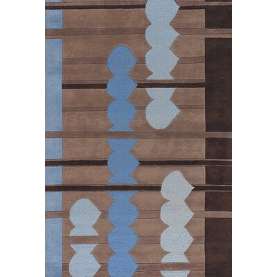 Avalisa Blue/Brown Area Rug Rug Size: 36 x 56