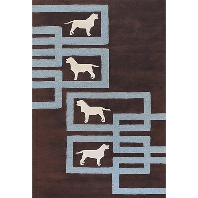 Valencia Brown/Blue Area Rug Rug Size: Rectangle 79 x 106
