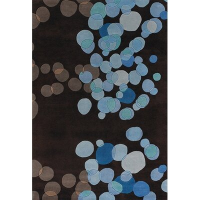 Youngman Blue/Brown Area Rug Rug Size: Rectangle 5 x 76