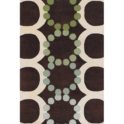 Youngman Brown/White Area Rug Rug Size: Round 79