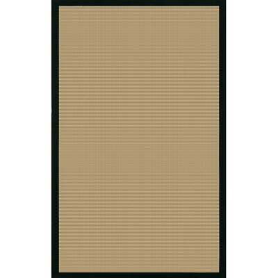Bay Beige/Black Area Rug Rug Size: Square 8