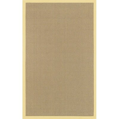 Wroblewski Yellow/Tan Area Rug Rug Size: Runner 26 x 8