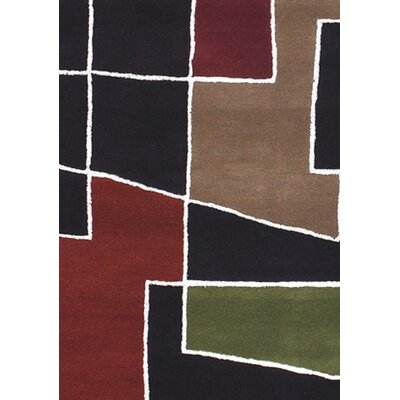 Bense Garza Black & Red Area Rug Rug Size: 2 x 3
