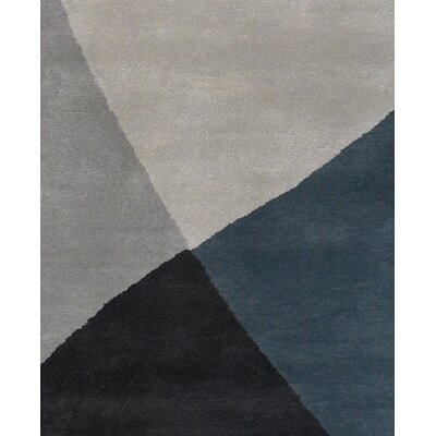 Stickel Hand Woven Black/Gray Area Rug Rug Size: Rectangle 79 x 106