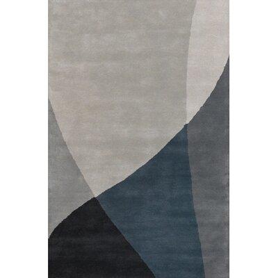 Bense Garza Black/Gray Area Rug Rug Size: Round 79