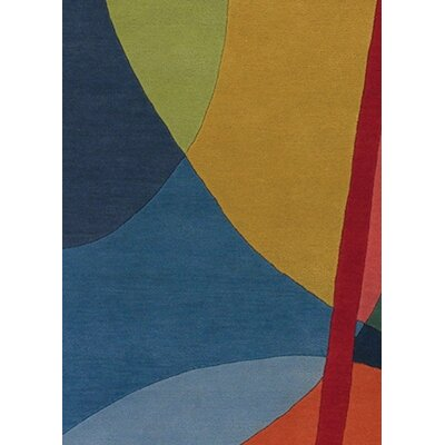 Stickel Geometric Wool Area Rug Rug Size: Round 79