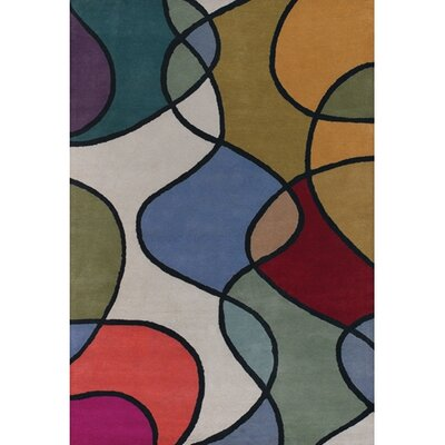 Stickel Blue/Tan Area Rug Rug Size: Rectangle 79 x 106