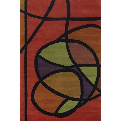Stickel Red/Green Area Rug Rug Size: Rectangle 5 x 76