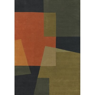 Stickel Orange/Brown Area Rug Rug Size: Round 79