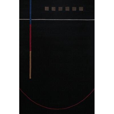 Debra Black/Gray Area Rug Rug Size: Rectangle 5 x 76