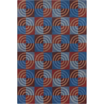 Altamirano Blue/Red Area Rug Rug Size: Round 79