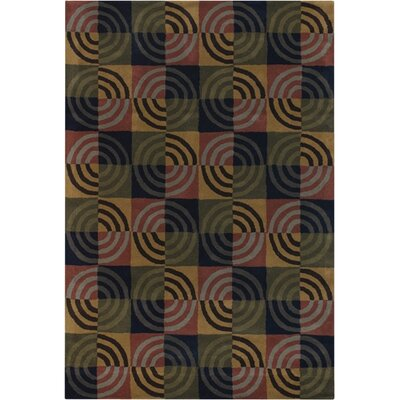 Altamirano Green/Tan Area Rug Rug Size: Rectangle 79 x 106