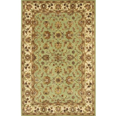Turnpike Green/Tan Area Rug Rug Size: Round 79