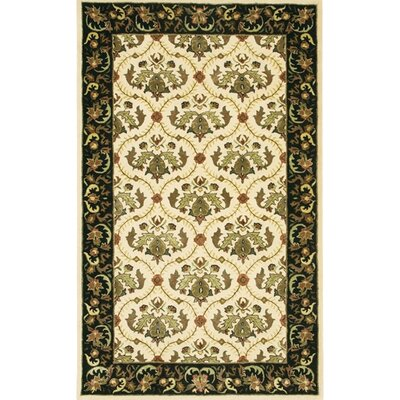 Turnpike Tan/Black Area Rug Rug Size: Rectangle 2 x 3